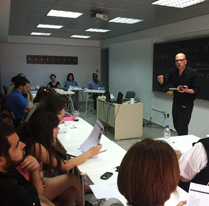 Brendan Constantine Teaching in Athens Greece